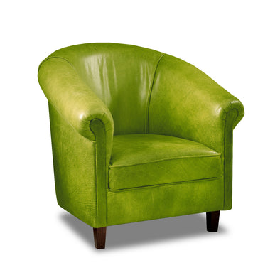 Sir Tub Chair Cerato Green Genuine Leather Tub Chair