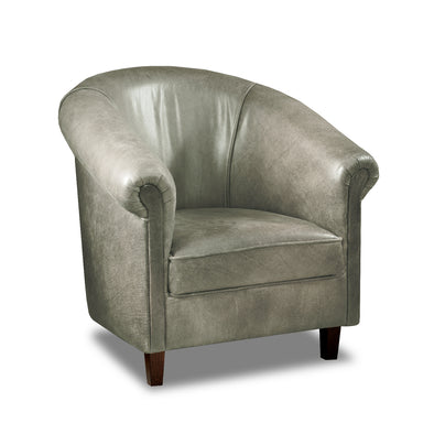 Sir Tub Chair Cerato Genuine Leather Tub Chair - 2 Grey Colours
