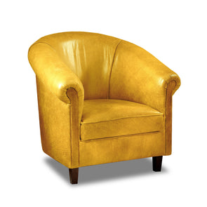 Sir Tub Chair Cerato Genuine Leather Tub Chair - 2 Yellow Colours