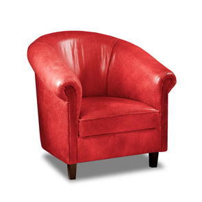 Sir Tub Chair Cerato Red Genuine Leather Tub Chair