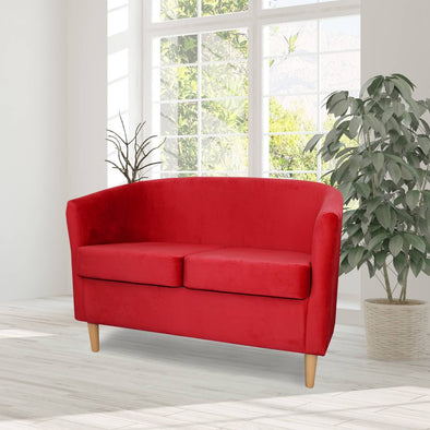 St Tropez Plush Velvet Fabric 2 Seater Sofa