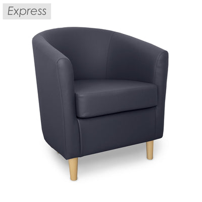 St Tropez Leather Contract Tub Chair