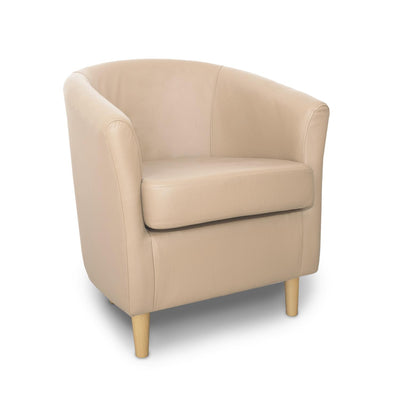 St Tropez Genuine Leather Contract Tub Chair