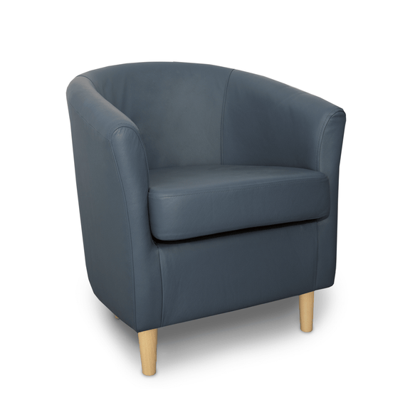 St Tropez Crib 5 Birch Genuine Leather Tub Chair