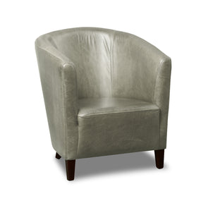 The Tub Chair Cerato Genuine Leather Tub Chair - 2 Grey Colours