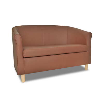Tuscany Genuine Leather 2 Seater Sofa in Crib 5 Style
