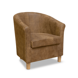 Tuscany Genuine Leather Tub Chair in Crib 5 Tribe