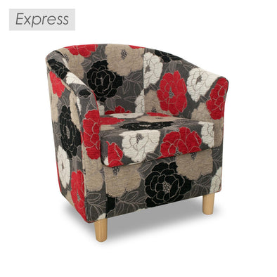 Clearance - Express Tuscany Floral Fabric Tub Chair