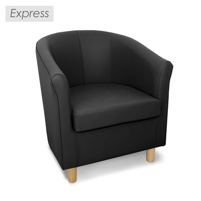 Special Offer - Express Tuscany Faux Leather Tub Chair