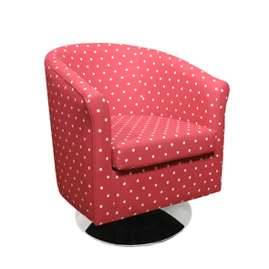 Tuscany Fabric Swivel Tub Chair in Dotty Spot