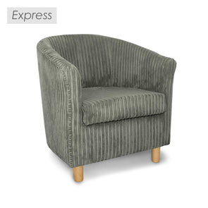 Express Tuscany Fabric Tub Chair in Metropolis Plain Texture