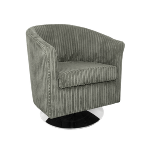 Tuscany Fabric Swivel Tub Chair in Metropolis Plain Texture