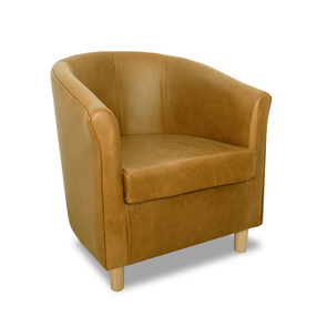 Tuscany Genuine Leather Tub Chair in Crib 5 Mustang