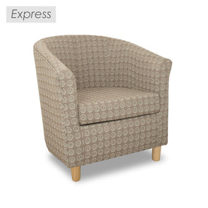 Clearance - Express Tuscany Numbers Fabric Tub Chair