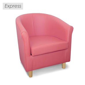 Express Tuscany Pink Faux Leather Tub Chair