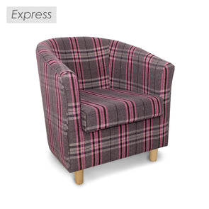 Clearance - Express Tuscany Tartan Fabric Tub Chair