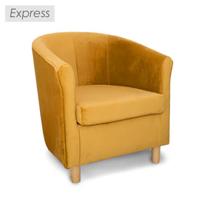 Express Tuscany Fabric Tub Chair in Plush Velvet