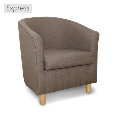Express Tuscany Fabric Tub Chair in Sierra Plain Linen