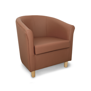 Tuscany Genuine Leather Tub Chair in Crib 5 Style