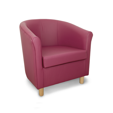 Tuscany Crib 5 Style Grape Genuine Leather Tub Chair