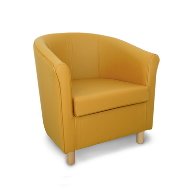 Tuscany Crib 5 Style Mustard Genuine Leather Tub Chair