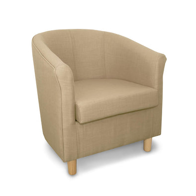 Tuscany Fabric Tub Chair in Crib 5 Natural Turin Linen