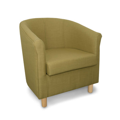 Tuscany Fabric Tub Chair in Crib 5 Turin Green Linen