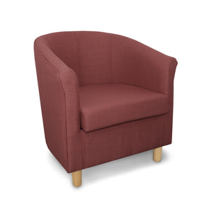 Tuscany Fabric Tub Chair in Crib 5 Turin Pink Linen