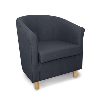 Tuscany Fabric Tub Chair in Crib 5 Turin Blue Linen