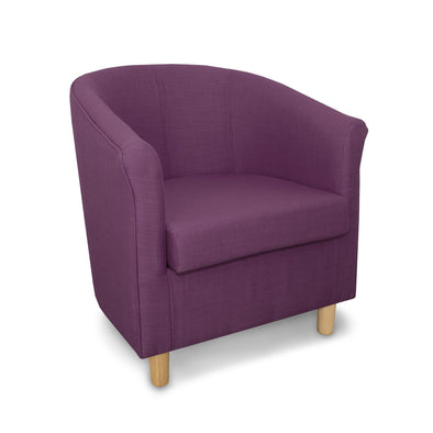 Tuscany Fabric Tub Chair in Crib 5 Turin Purple Linen