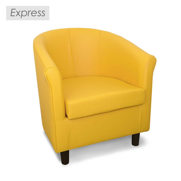 Strange Express Tuscany Faux Leather Tub Chair Gmtry Best Dining Table And Chair Ideas Images Gmtryco
