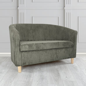 Tuscany Metropolis Plain Texture Fabric 2 Seater Tub Sofa - 2 Grey Colours