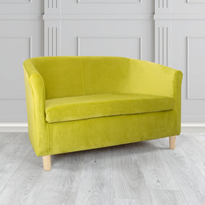 Tuscany Lime Plush Velvet Fabric 2 Seater Sofa