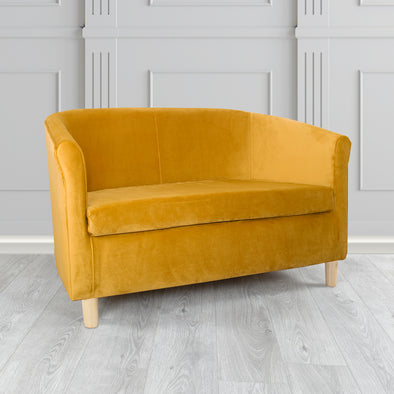 Tuscany Plush Mustard Velvet Fabric 2 Seater Sofa