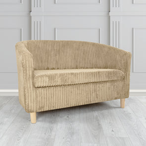 Tuscany Metropolis Sable Plain Texture Fabric 2 Seater Tub Sofa