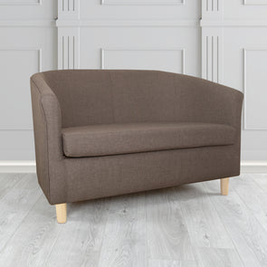 Tuscany Sierra Bark Plain Linen Fabric 2 Seater Sofa