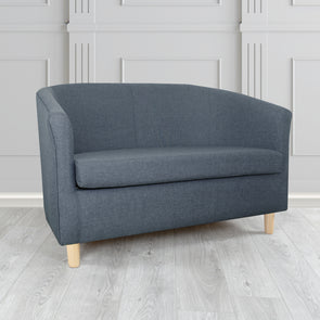 Tuscany Sierra Plain Linen Fabric 2 Seater Sofa - 2 Blue Colours