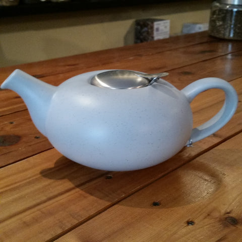4 Cup Pebble Teapot - Blue Fleck, With Stainless Steel Infuser, London Pottery, No Drip, Loose Leaf Tea