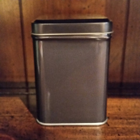 Tea Tin - Gunmetal Grey - The Tea & Spice Shoppe