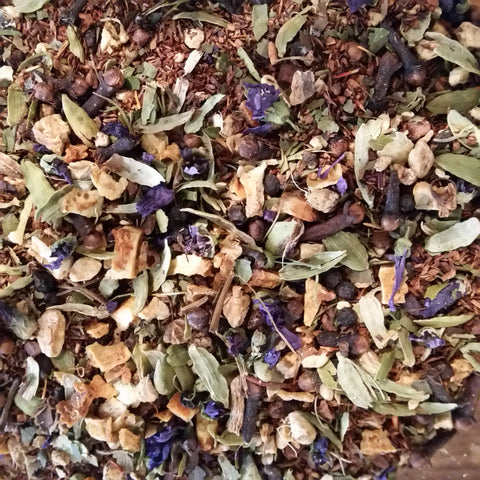 Grattitude Yoga Tea - Bengal Spice - This is a very special custom blend, created for the Grattitude Yoga Studio in Salmon Arm BC.  Get your Zen on with this wonderful blend. (Bengal Spice) Instructions: Attend a yoga class and then sip on a cup of Grattitude Yoga Tea. Rumour is it helps the yogis sleep better. Namaste!
