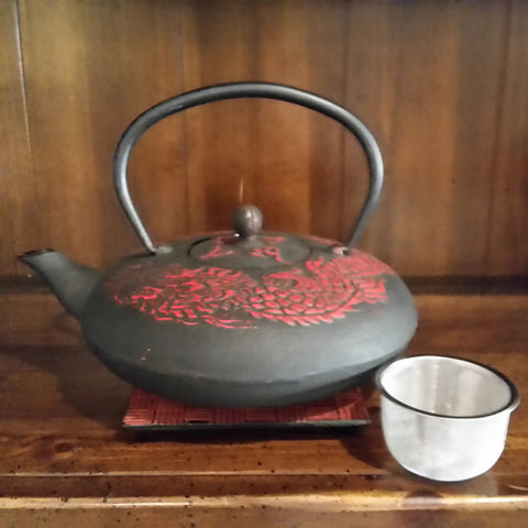 Cast Iron Teapot - Red Dragon - The Tea & Spice Shoppe