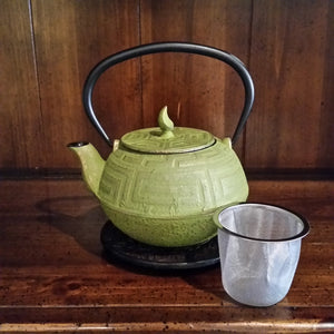 Cast Iron Teapot - Green Gold - The Tea & Spice Shoppe