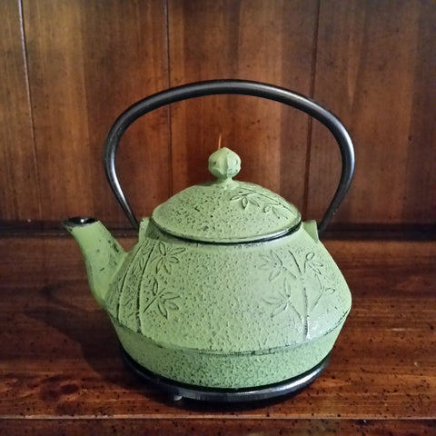 Cast Iron Teapot - Bamboo - The Tea & Spice Shoppe