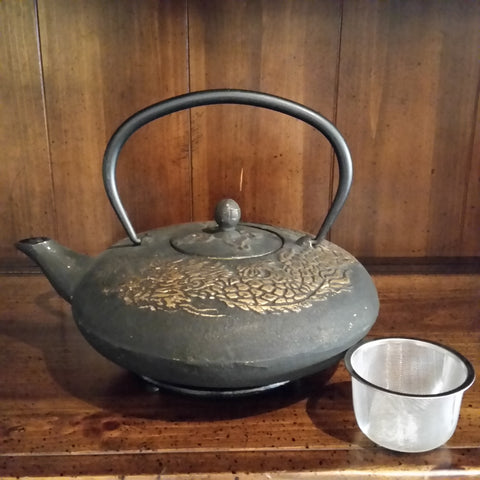 Cast Iron Teapot - Golden Dragon