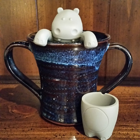 Zoopy Animal Tea Infuser that hangs on to the side of your cup or mug.  Available in Hippo, Ape or Elephant