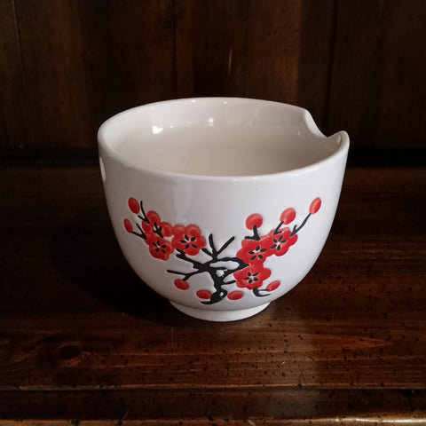 Matcha Bowl - Red Flower