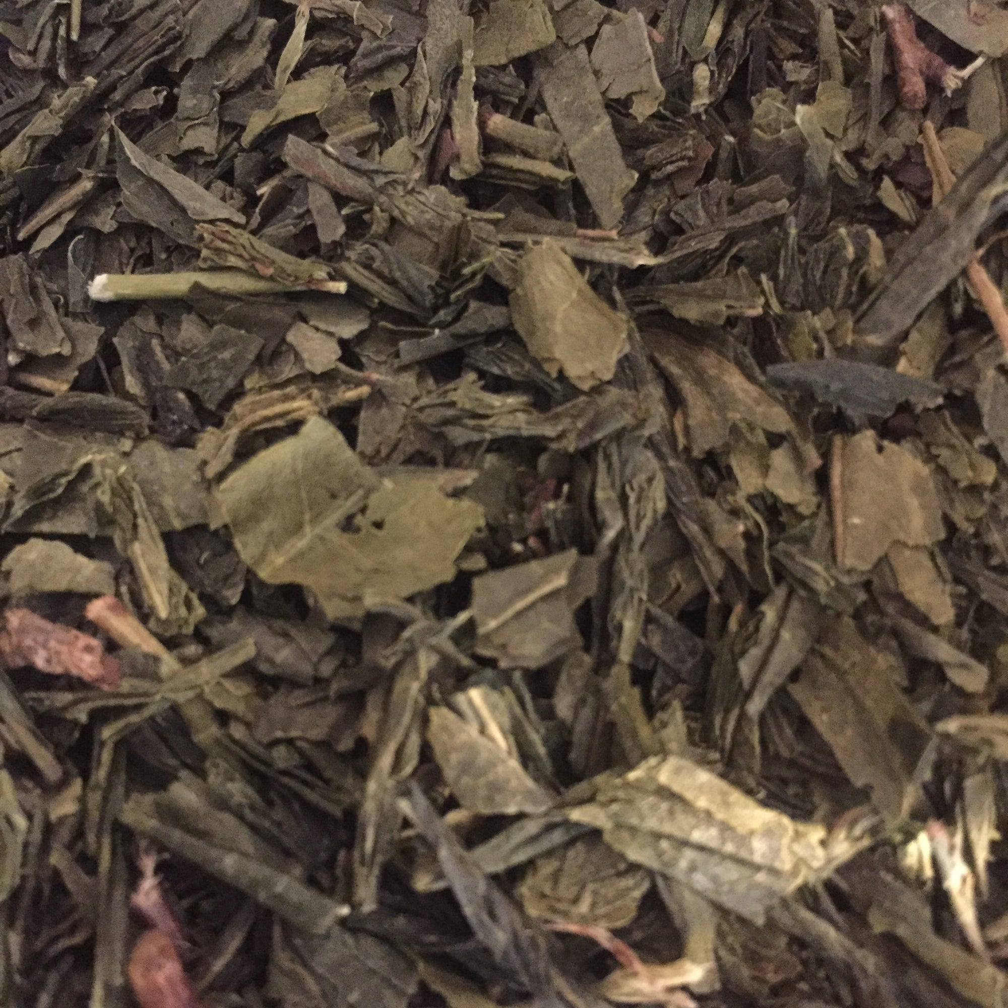 Certified Organic-Japanese Green Tea. Low in tannis and caffeine.