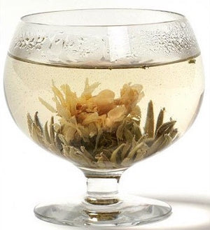 Allegria Jasmine Flowering- Blooming Tea Balls- Luxury Green Tea, Marigold, Jasmine, Arabian Jasmine Blossoms