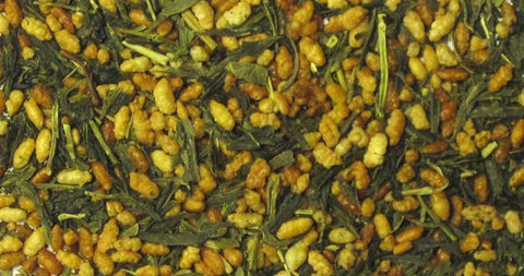 Certified organic Green Tea Genmaicha. Popped rice