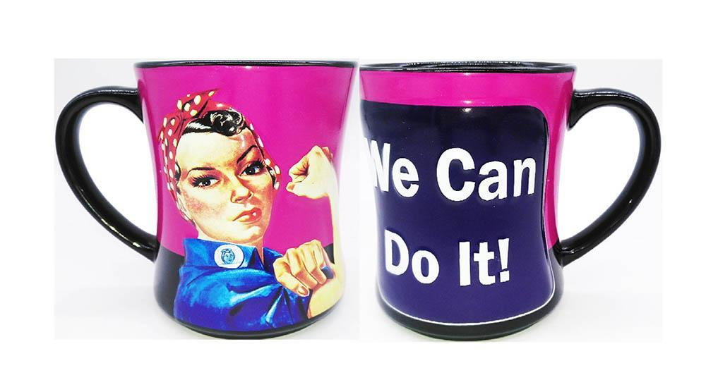 Rosie The Riveter Mug We Can Do It... Embossed